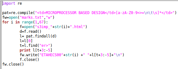 Regular expression put to use